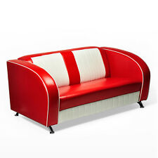 """AMERICAN SOFA """"Colorado"""" COUCH 50er JAHRE USA STYLE DINERBANK SITZBANK 150cm rot"""