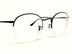 Ray Ban RB3974V 2509 Men's Black Round Half Rim Eyeglasses Frames 51/22~145