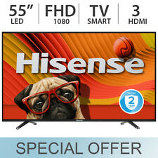 "Hisense 55"" inch 1080p 60Hz LED FULL HD Smart TV w/ 3 HDMI & Wi-Fi - 55H5C"