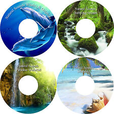 Natural Sounds Relaxation Deep Sleep Stress Relief 4 CD Healing Nature Calming