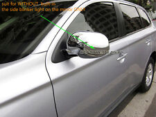 2 Chrome Rear Side Mirror Cover Protector for Mitsubishi Outlander ZJ ZK 2013-16