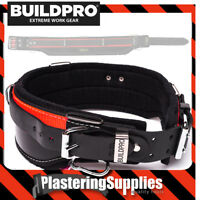 "BuildPro Carpenters Builders Belt 32"" Leather Heavy Duty Stitching LBBSRC32"