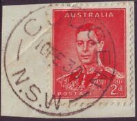 """NSW POSTMARK """"CUDGEN"""" ON 2d KGVI DATED 10/2/1938 (A13288)"""