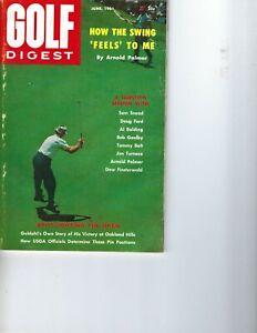 1961 AUGUST Golf Digest magazine Arnold Palmer, Sam Snead, Dow Finsterwald GOOD