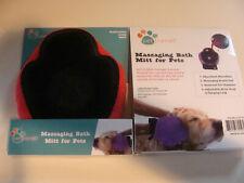 Pet Trends Massaging Bath Mitt for Pets NEW Orange dogs cats