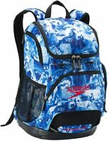 Speedo Printed 35L Teamster Backpack - White/Blue
