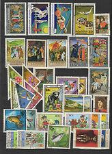 années 70 Mongolie un lot de timbres oblitérés / T1742