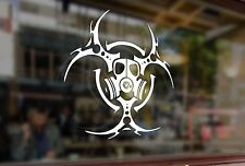 25cm Mask BIOHAZARD Respirator Gas Vinyl Stickers Decal Car Auto Glass Laptop