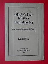 alte LANDKARTE Russisch serbischer türkischer Kriegsschauplatz von 1915 ( 15203