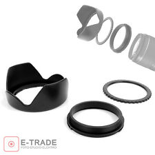 62mm Reversible Petal Flower Lens Hood Screw Mount For Canon Nikon Olympus