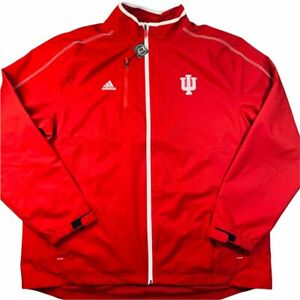 adidas Indiana University IU Hoosiers full zip lightweight jacket NWT
