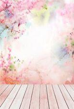 Vinyl 5x7FT Photo Backdrops Pink Petal Floor Photography Background Studio Props