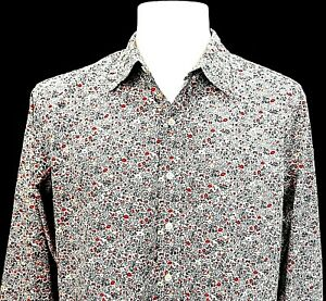"GAP Mens Floral L/S Smart EVENING DRESS SHIRT Slim Fit - XL - Chest 48"" - £59"