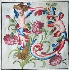 "Flawed gigantic Antiphonary Manuscript Lf.Vellum,phantasy ""D""initial,ca.1600"