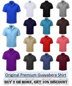 Guayabera Original Cuban Short sleeve dress shirt, Wedding Cigar Bartender