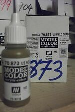 MODEL HOBBY PAINT 17ml BOTTLE VAL873 	 AV Vallejo Model Color - US Field Drab