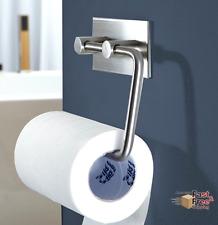 Toilet Paper Towel Holder Tissue Roll Hanger Wall Mount, Stainless Steel Brushed