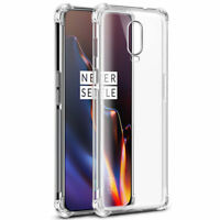 OnePlus 6T Case Premium Protection Best Silicone TPU Hybrid Phone Cover Clear