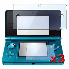 3 Pack Clear LCD Screen Protector Cover for Nintendo 3DS L6