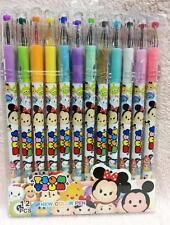 New color pen 12pcs cartoon pendant tsum mickey children stationery Neutral pen