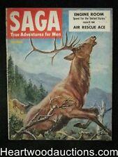 Saga Nov 1952 Harvey Kidder Cover, Car racing, Herb Mott