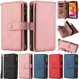 Zipper Wallet Leather Flip Bag Case For iPhone 12 Pro 11 X XR XS Max 6S 7 8 Plus