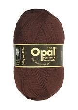 Opal 100g 4-fädig Uni Sockenwolle (5192 Dunkelbraun)