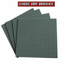 "4 Classic Gray Baselates 10x10"" or 32x32 Base Plates, Compatible to Lego 10700"