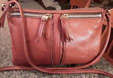 Fossil Erin Brown Leather Crossbody bag - Cute!