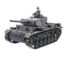 1:16 Taigen Panzer Iii Rc Tank V2 Infrared 2.4Ghz Metal Edition New