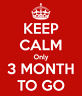 Picture of Keep calm only 3 MONTH TO GO