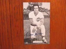 OSCAR  ZAMORA    (Chicago Cubs)   Signed  3 X 5   J.  D.  McCarthy  Postcard