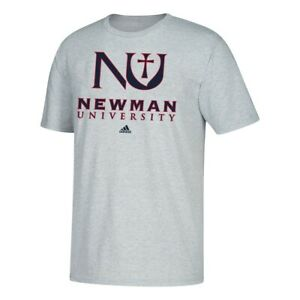 Newman University Jets NCAA Adidas Primary School  Men's Grey T-Shirt