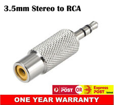 3.5mm AUX Stereo Audio Male to Single RCA Female Converter Connector Adapter AU