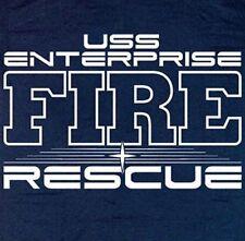 USS Enterprise Fire & Rescue T-shirt  XL