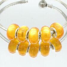 5pcs Silver Cat's Eye European Charm Beads Fit Necklace Bracelet DIY V252