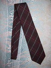 O'Neils Brown Plaid Scottish Lambs Wool Neck Tie