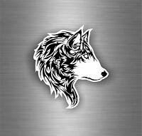 Sticker tuning decal car motorcycles wolf biker  tribal animal tattoo r1