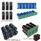 1 Set Farad Capacitor 2.5V/2.7V 120F/500F/700F 1/2/6pcs ELNA Super Capacitor