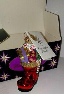 Christopher Radko Red Little Loot Boot Ornament