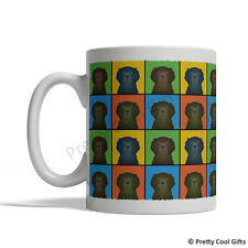 Curly Coated Retriever Dog Mug - Cartoon Pop-Art Coffee Tea Cup 11oz Ceramic