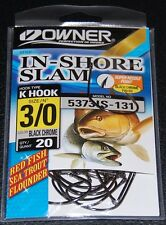 Owner 5373IS-131 In Shore Slam Size 3/0 K Hooks 20 pack Flounder Red Fish Trout