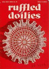 Vintage Crochet Tatting Patterns Ruffled Doilies Doily Octopus Square 1952 VTNS
