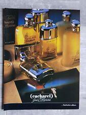 Publicité CACHAREL HOMME DESTINATION AILLEURS   advert 1984 clipping