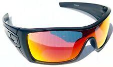 NEW! Oakley BATWOLF Matte Black w POLARIZED RUBY lens Sunglass 9101