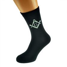 Plata Masónico Con G Diseño Calcetines para hombre Negro Adulto Tamaño UK 5-12 - X6N344