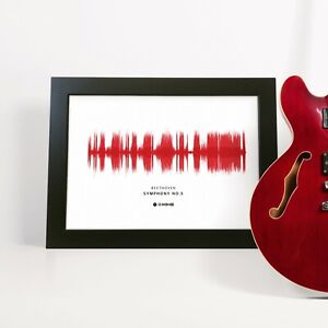Personalised Song Sound Wave Framed Print Wedding Anniversary Husband Best Man