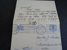 Nederland  briefkaart G 79 I binnen Amsterdam 1911