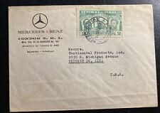 1955 Asuncion Paraguay Mercedes Benz Advertising cover to Chicago iL USA