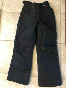 Slalom black snow pants size S